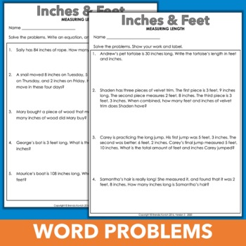 Customary Conversion Word Problems & Worksheets with Conversion Charts