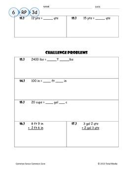 Customary Conversion Practice (Round 2)