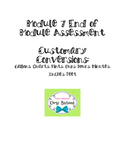 Customary Conversions Assessment: Eureka Math Module 7: 4th Grade