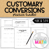 Customary Conversions: Bundle Practice (Computation & Word Problems)