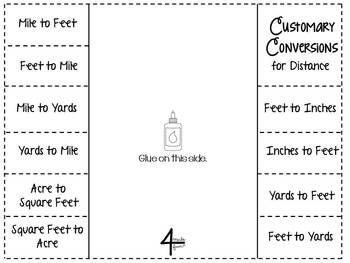Customary Conversions Flippables for Interactive Notebooks