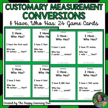 Customary Conversions Game