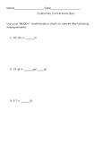 Customary Conversions Quiz