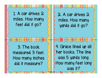 Customary Conversions {inches, feet, yards, and miles}
