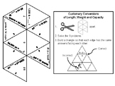 Customary Conversions of Length, Weight and Capacity: Math Tarsia Puzzle