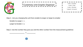 Customary Graphic Organizer
