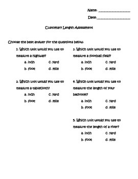 Customary Length Assessment