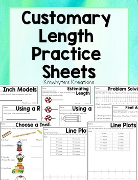Customary Length Practice Sheets