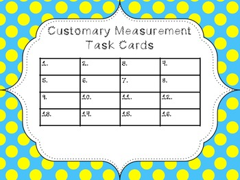 Customary Length Task Cards QR Code