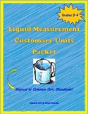 Customary Liquid Measurement Activity Packet