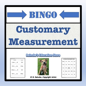 Customary Measurement Bingo (30 pre-made cards!)