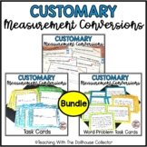 CUSTOMARY MEASUREMENT Bundle: Conversions, Word Problems, Worksheets, Task Cards