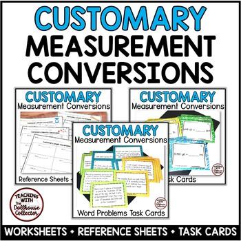 CUSTOMARY MEASUREMENT Bundle: Conversions, Word Problems, Worksheets ...