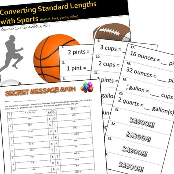 Customary Measurement Bundle - Converting and Comparing Length, Capacity, Weight