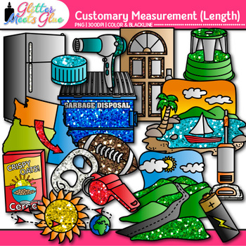 Customary Length Clip Art {Measurement Tools for Math}