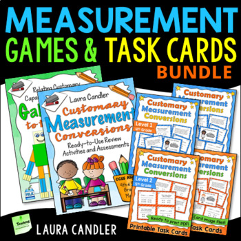Measurement Games, Activities, and Task Bundle | 4th and 5th Grade