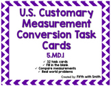 Customary Measurement Conversion Task Cards