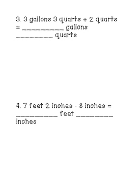 """Customary Measurement Conversion Task Cards """"Tour the Room"""" Printable!"""
