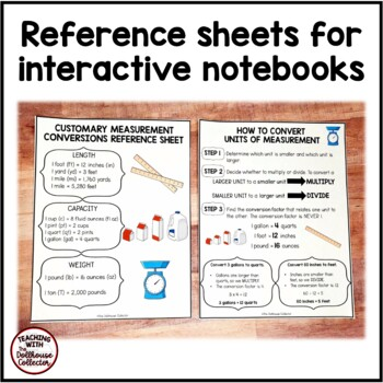 Customary Measurement Conversions - Reference Sheets and Worksheets