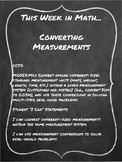Customary Measurement Conversions Differentiated Centers