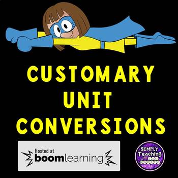 Customary Measurement Conversions Digital Boom Cards  5.MD.1
