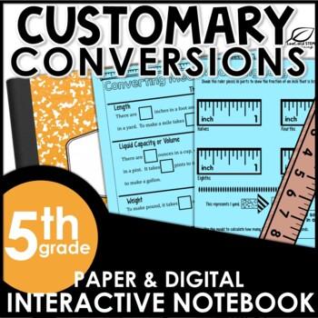 Customary Measurement Conversions Interactive Math Notebook Set