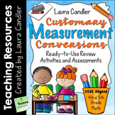 Measurement Conversions for 4th and 5th Grade: Games, Acti