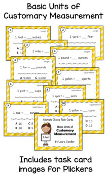 Customary Measurement Conversions Task Cards Level 2 (Printable)