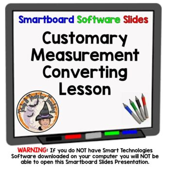 Customary Measurement Converting Customary Units of Measure Smartboard