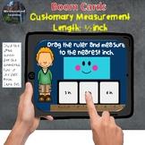 Customary Measurement Length to 1/2 Half Inch Boom Card Set
