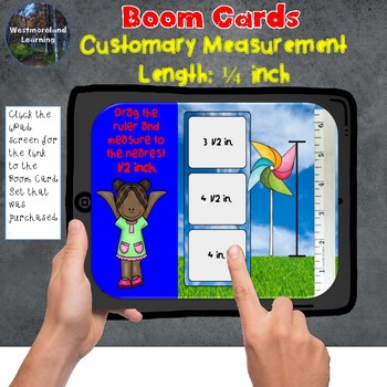 Customary Measurement Length to 1/4 Quarter Inch Boom Card Set