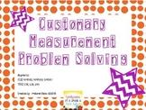 Customary Measurement Problem Solving Task Cards