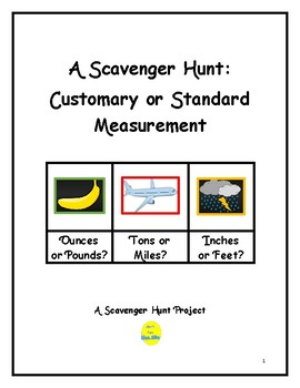 Customary Measurement Scavenger Hunt