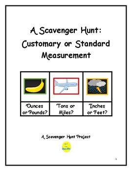Customary Measurement Scavenger Hunt