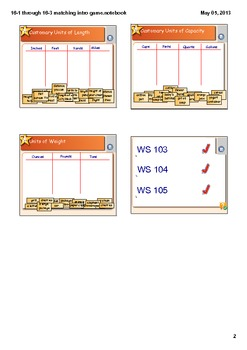 Customary Measurement Smart Board Lesson CCSS 4.MD.1
