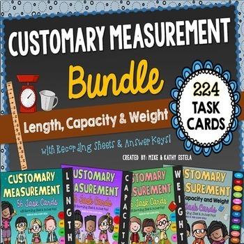 Customary Measurement Task Cards BUNDLE