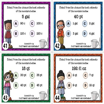 Customary Measurement Task Cards {CAPACITY}