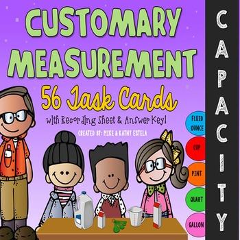 Customary Measurement Task Cards {CAPACITY}