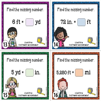 Customary Measurement Task Cards {LENGTH}