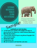 Customary Measurement Task Cards Sampler with Animal Facts
