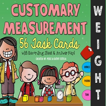 Customary Measurement Task Cards {WEIGHT}