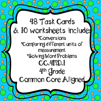 Customary Measurement Task Cards & Worksheets Distance Learning Google Classroom
