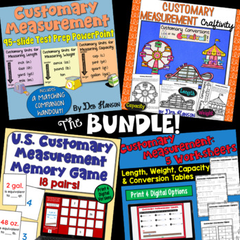 Customary Measurement A Bundle Of Activities By Deb Hanson Tpt