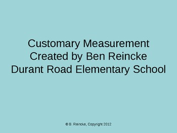 Customary Measurement TurningPoint Clicker Presentation