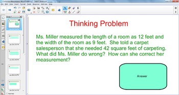 Customary Measurement Word Problems SMARTBoard File