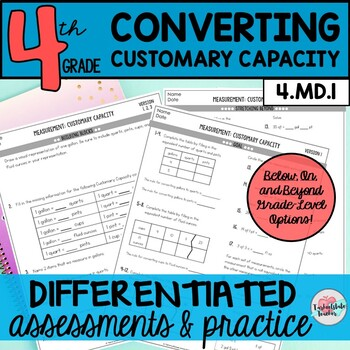 Customary Capacity Worksheets Teaching Resources Teachers Pay Teachers
