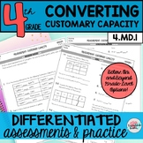 Customary Measurement Worksheets Capacity Differentiated Assessments or Practice