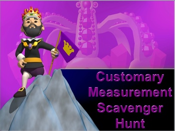 Customary Measurement and Comparisons Scavenger Hunt Activity