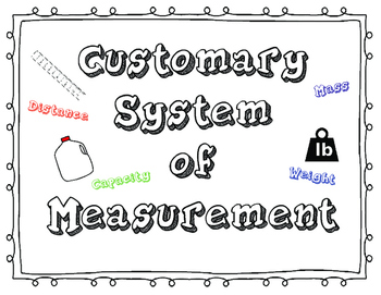 Customary Measurement and Conversion Posters, Interactive Journals