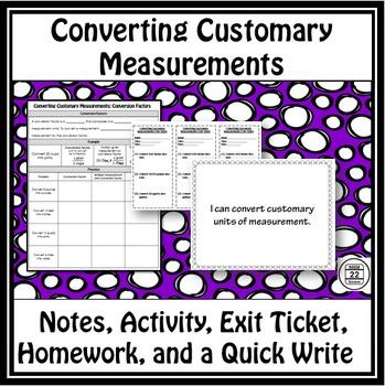 Customary Measurement Lesson